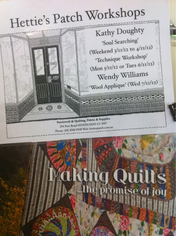 Kathy Doughty & Wendy Williams workshops